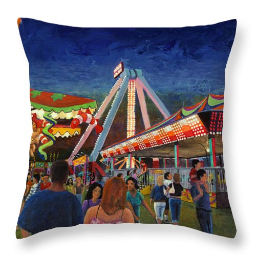 Allegory Throw Pillow featuring the painting Paradise Discovered by Don Perino