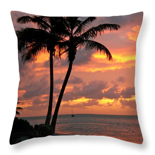 Sunset Throw Pillow featuring the photograph Paradise by Jill Myers