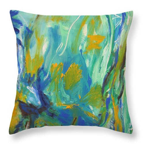 Spring Time Throw Pillow featuring the painting Spring Time by Fereshteh Stoecklein
