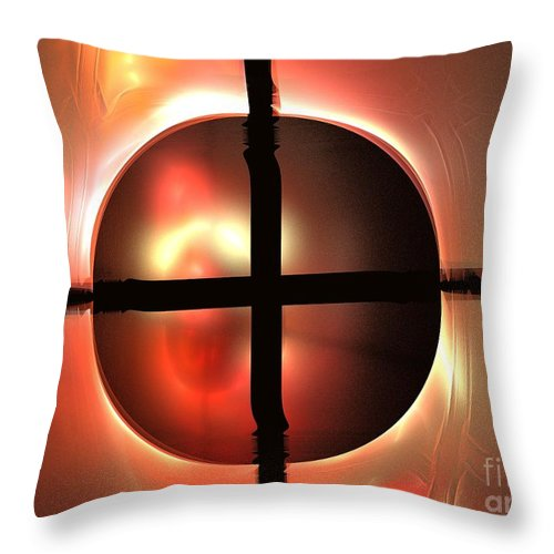 Apophysis Throw Pillow featuring the digital art Parallel Universe by Kim Sy Ok