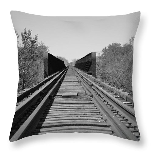 Train Throw Pillow featuring the photograph Parallelism by Derry Murphy