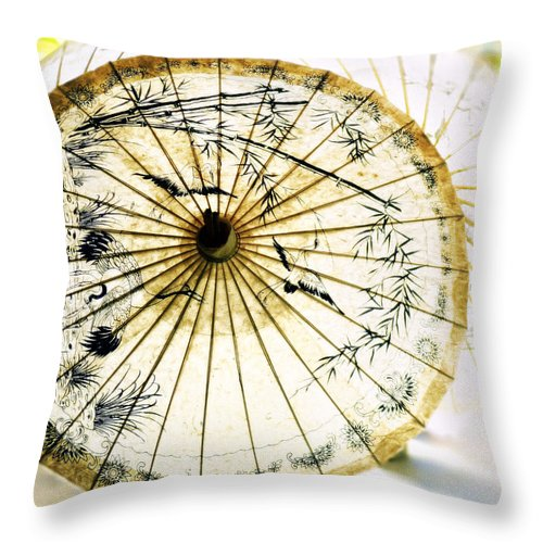 Parasol Throw Pillow featuring the photograph Parasol by A Rey