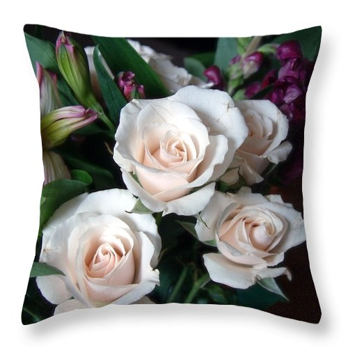 Flowers Throw Pillow featuring the photograph Pardon My Blush by RC DeWinter