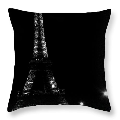 Eiffel Tower Throw Pillow featuring the photograph Paris At Night by Heather Applegate