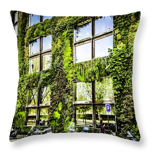 Paris Throw Pillow featuring the photograph Paris Moss by John Jack