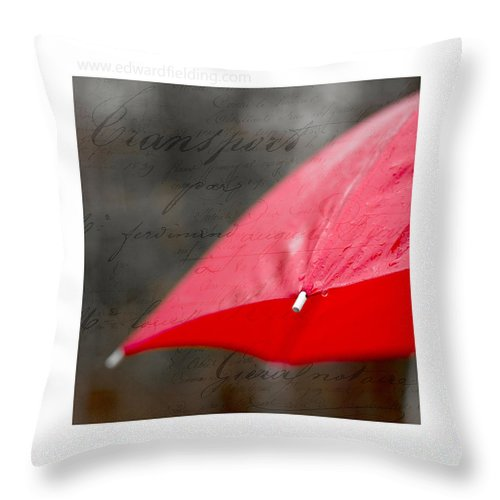 Free Shipping Throw Pillow featuring the photograph Paris Rains Original Signed Mini by Edward Fielding