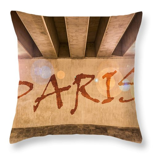 Abstract Throw Pillow featuring the photograph Paris by Semmick Photo