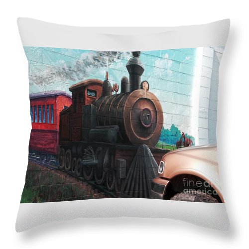 Parking Lot Throw Pillow featuring the photograph Parking Lot by Ann Horn