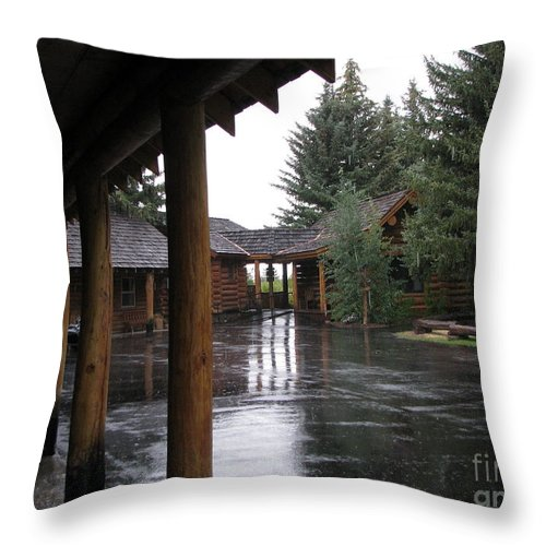 Patzer Throw Pillow featuring the photograph Parking Lot by Greg Patzer