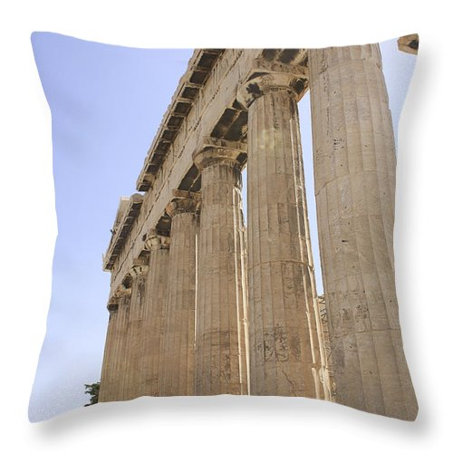 Parthenon Throw Pillow featuring the photograph Parthenon by Cassandra NightThunder