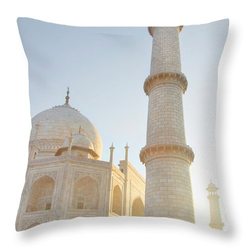 Arch Throw Pillow featuring the photograph Partial View Taj Mahal by Grant Faint