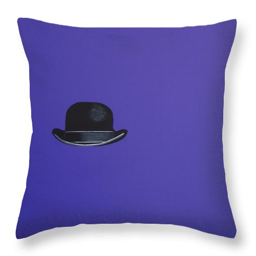 Modern Art Throw Pillow featuring the painting Particularly Purple by Venus