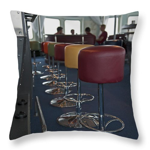 Nina Stavlund Throw Pillow featuring the photograph Party Room... by Nina Stavlund
