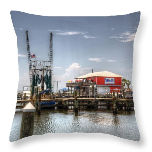 Pass Harbor Throw Pillow featuring the photograph Pass Harbor Mississippi by Greg and Chrystal Mimbs