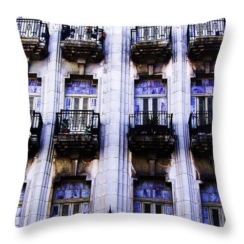 Cuba Throw Pillow featuring the photograph Passages by J Andrel