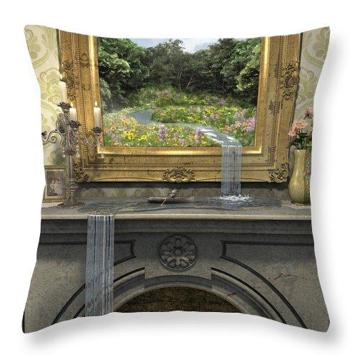 Magic Throw Pillow featuring the digital art Passing Through by Cynthia Decker