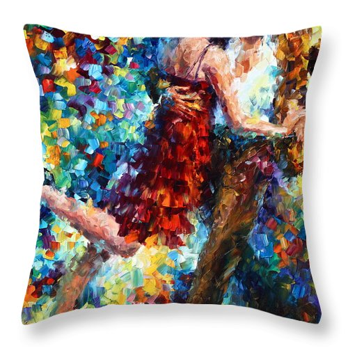 Afremov Throw Pillow featuring the painting Passion Dancing by Leonid Afremov