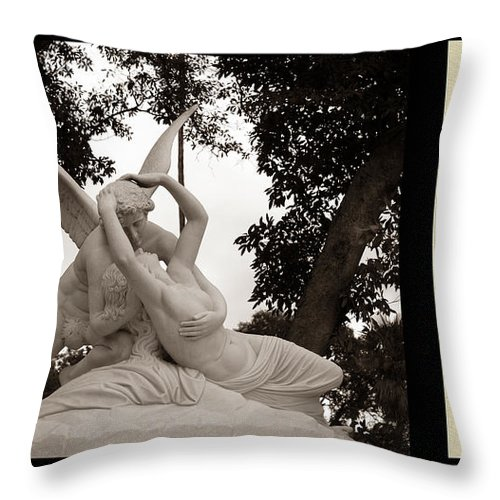 Poetry Throw Pillow featuring the photograph Passion In Death With Poety by Jessica Foster