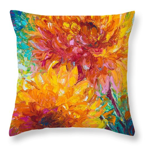 Oil Throw Pillow featuring the painting Passion by Talya Johnson