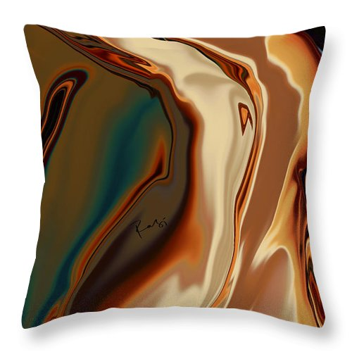 Abstract Throw Pillow featuring the digital art Passionate Kiss by Rabi Khan