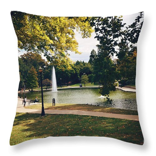Mirror Lake Throw Pillow featuring the photograph Past Time At Mirror Lake by Rachel Barrett