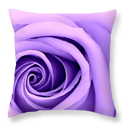 Rose Throw Pillow featuring the photograph Pastel Beauty by Tina Meador