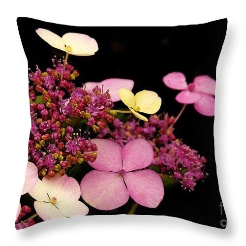 Flowers Throw Pillow featuring the photograph Pastels From Anna by Linda Shafer
