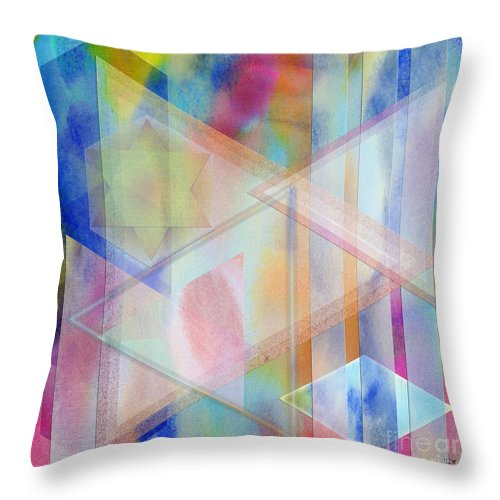 Pastoral Moment Throw Pillow featuring the digital art Pastoral Moment - Square Version by John Robert Beck