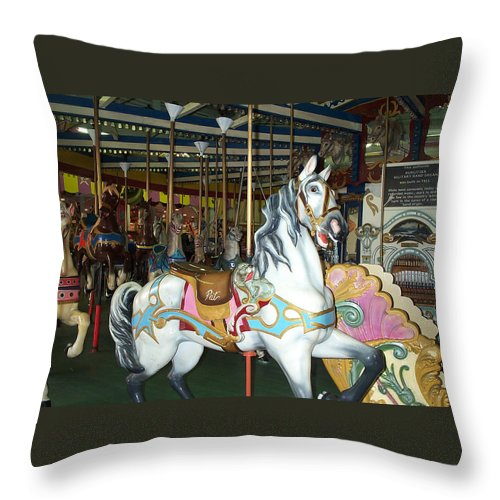 Pat Throw Pillow featuring the photograph Pat by Barbara McDevitt