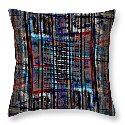 Architectural Abstract Throw Pillow featuring the photograph Patchwork Architecture 2 by KM Corcoran