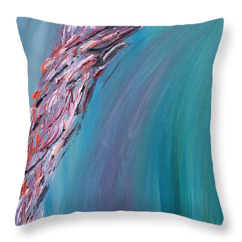 Path Throw Pillow featuring the painting Path by Maralea Norden