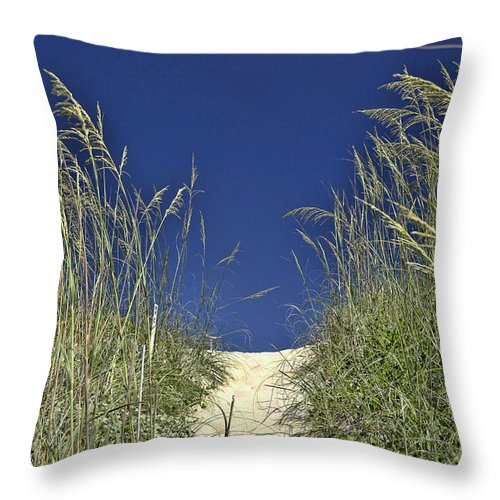 Path Through The Dunes Throw Pillow featuring the photograph Path Through The Dunes by Allen Beatty