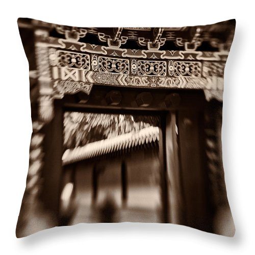 Asian Throw Pillow featuring the photograph Path To Enlightenment by Venetta Archer