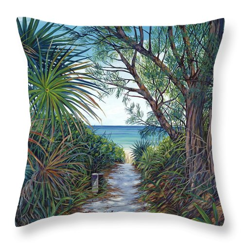 Harbour Island Throw Pillow featuring the painting Path to Serenity by Danielle Perry