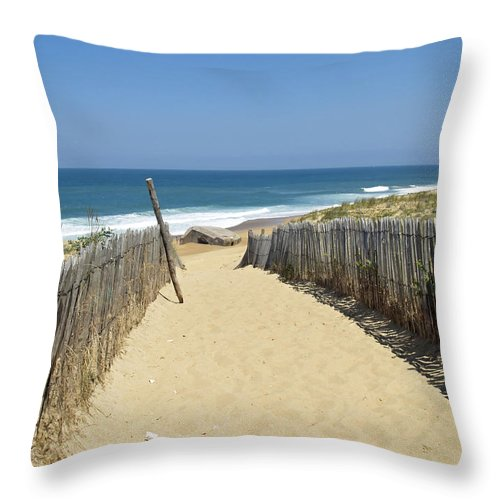 Path Throw Pillow featuring the photograph Path To The Sea by Pixabay