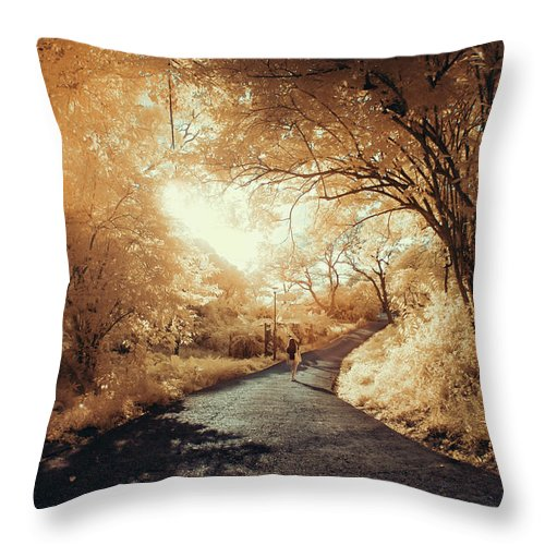 Shadow Throw Pillow featuring the photograph Pathway To Wonderland by D3sign
