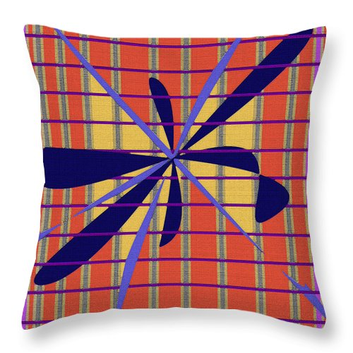 Pattern Throw Pillow featuring the digital art Pattern Play by Art by Kar