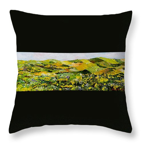 Landscape Throw Pillow featuring the painting Patterns by Allan P Friedlander