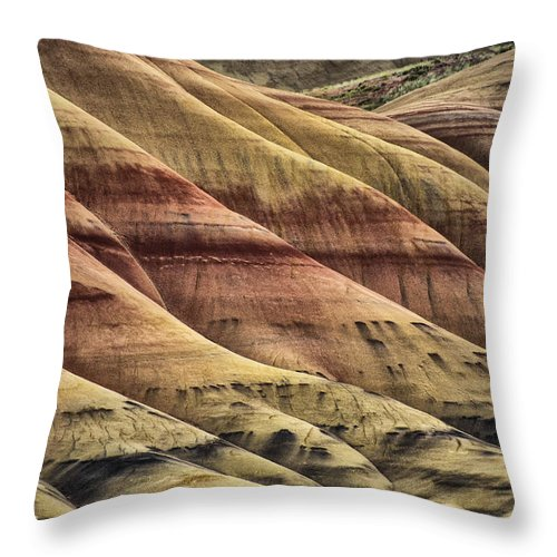 Hills Throw Pillow featuring the photograph Patterns by Erika Fawcett
