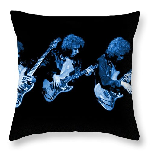 Paul Harwood Throw Pillow featuring the photograph Paul Harwood Of Mahogany Rush Plays The Blues by Ben Upham