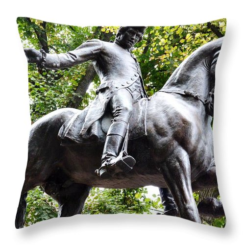 Boston Throw Pillow featuring the photograph Paul Revere's Ride 2 by Lisa Kilby