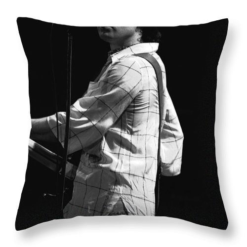 Paul Rodgers Throw Pillow featuring the photograph Paul On The Burnin Sky Tour 1977 Spokane by Ben Upham