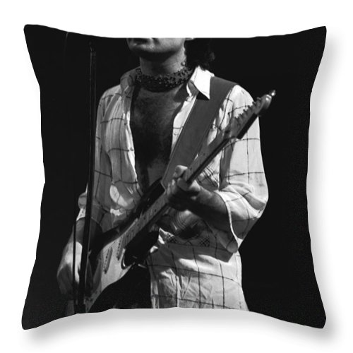 Paul Rodgers Throw Pillow featuring the photograph Paul Rocks Spokane 1977 by Ben Upham