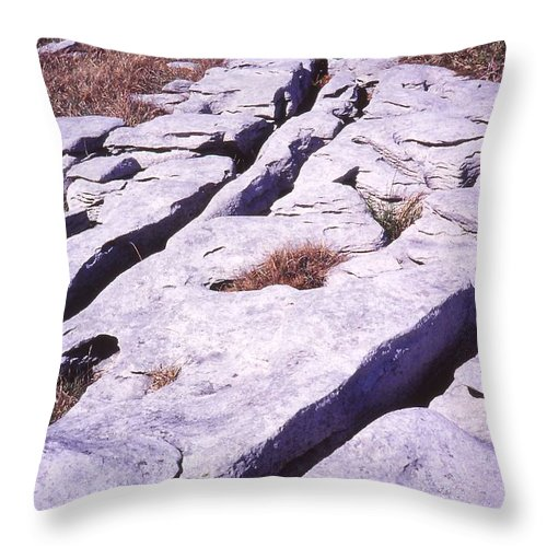 Burren Throw Pillow featuring the photograph Pavement by Cynthia Wallentine