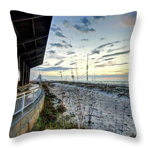 Alabama Throw Pillow featuring the digital art Pavilian And The December Sunrise by Michael Thomas