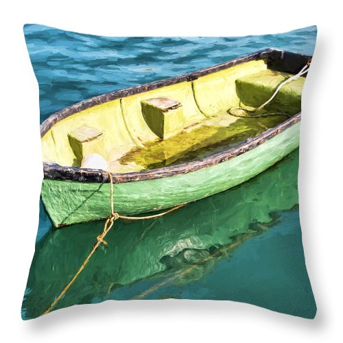 Row-boat Throw Pillow featuring the photograph Pea-green Boat - Impressions by Susie Peek