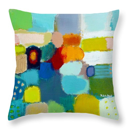 Peace Throw Pillow featuring the painting Peace And Joy 3 by Habib Ayat