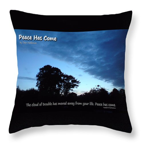 Tree Throw Pillow featuring the photograph Peace Has Come by Peter Hutchinson