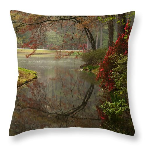 Callaway Throw Pillow featuring the photograph Peace In A Garden by Kathy Clark
