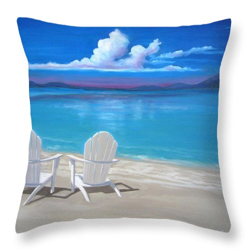 This Painting Is Currently For Sale. Please Contact The Artist Directly To Inquire About Purchasing This Artwork. Throw Pillow featuring the painting Peace by Janet King